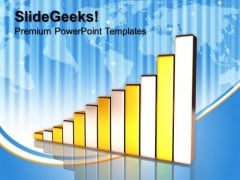 Golden Bar Graph Success PowerPoint Templates And PowerPoint Themes 1012