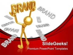 Golden Brand Business PowerPoint Templates And PowerPoint Backgrounds 0511
