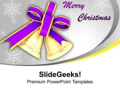 Golden Christmas Bells For Celebration PowerPoint Templates Ppt Backgrounds For Slides 0513