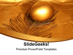 Golden Egg Leadership PowerPoint Templates And PowerPoint Backgrounds 0611