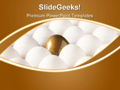 Golden Egg Leadership PowerPoint Themes And PowerPoint Slides 0411