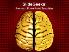 Golden Human Mind Graphics PowerPoint Templates Ppt Backgrounds For Slides 0513