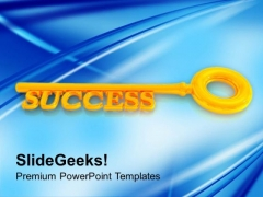 Golden Key To Success Finance PowerPoint Templates Ppt Backgrounds For Slides 0213