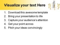 Golden Key With Men Security PowerPoint Themes And PowerPoint Slides 0511