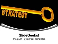 Golden Key With Word Strategy Business PowerPoint Templates Ppt Backgrounds For Slides 1112