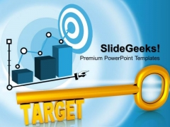 Golden Key With Word Target PowerPoint Templates And PowerPoint Themes 0812