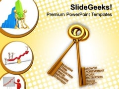 Golden Keys Concept Business PowerPoint Templates And PowerPoint Themes 0812