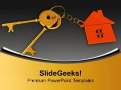 Golden Keys For Home Security PowerPoint Templates Ppt Backgrounds For Slides 0213