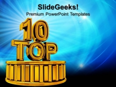 Golden Top Success PowerPoint Templates And PowerPoint Themes 0812