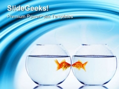 Goldfish And Aquarium Animals PowerPoint Templates And PowerPoint Backgrounds 0311
