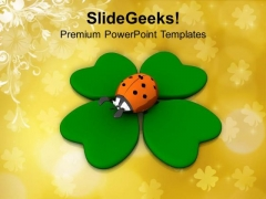 Good Luck Irish Symbols Holiday PowerPoint Templates Ppt Backgrounds For Slides 0313