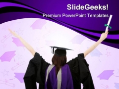 Graduate Student Education PowerPoint Backgrounds And Templates 1210