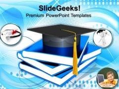 Graduation Concept Education PowerPoint Templates And PowerPoint Themes 0812
