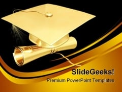 Graduation Diploma Education PowerPoint Backgrounds And Templates 1210