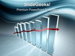 Graph Arrow Success PowerPoint Templates And PowerPoint Backgrounds 0611