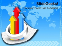 Graph Business PowerPoint Template 0810