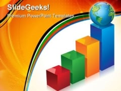 Graph With Globe Success PowerPoint Templates And PowerPoint Backgrounds 1211