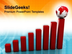 Graph With Image Globe PowerPoint Templates And PowerPoint Themes 0812