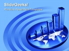 Graph With World Business PowerPoint Templates And PowerPoint Backgrounds 0311