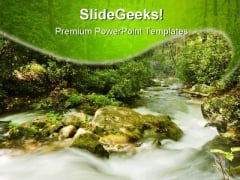 Great Smoky Mountains Nature PowerPoint Templates And PowerPoint Backgrounds 0611
