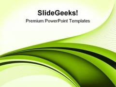 Green Abstract Background PowerPoint Themes And PowerPoint Slides 0411