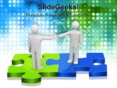Green And Blue Solution Handshake PowerPoint Templates And PowerPoint Backgrounds 1211
