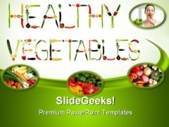 Green And Fresh Vegetables Health PowerPoint Templates And PowerPoint Backgrounds 0311
