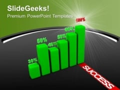 Green Bar Graph With Percentage Marketing PowerPoint Templates Ppt Backgrounds For Slides 0213