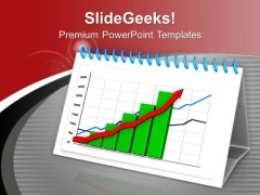 Green Business Graph PowerPoint Templates Ppt Backgrounds For Slides 0413