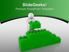 Green Cube Wall Puzzle Games PowerPoint Templates Ppt Backgrounds For Slides 0713