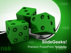 Green Dices Business PowerPoint Templates And PowerPoint Themes 0412