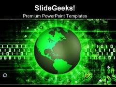 Green Earth Technology PowerPoint Themes And PowerPoint Slides 0611