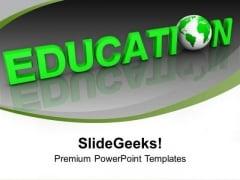 Green Education With Global Issues PowerPoint Templates Ppt Backgrounds For Slides 0213