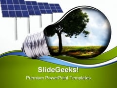 Green Energy Environment PowerPoint Themes And PowerPoint Slides 0811