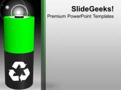 Green Energy Symbol Ecology Recycle Environment PowerPoint Templates Ppt Backgrounds For Slides 0113