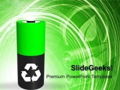 Green Energy Symbol Ecology Recycle PowerPoint Templates And PowerPoint Themes 1012