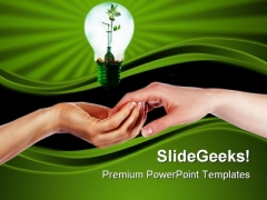 Green Idea Blub Environment PowerPoint Templates And PowerPoint Backgrounds 0411