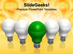 Green Idea Technology PowerPoint Templates And PowerPoint Themes 0712