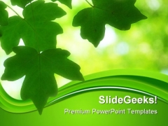 Green Leaves01 Nature PowerPoint Themes And PowerPoint Slides 0411