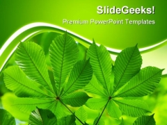 Green Leaves01 Nature PowerPoint Themes And PowerPoint Slides 0511