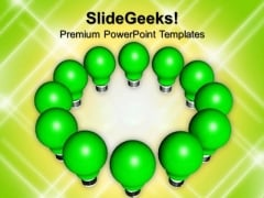 Green Light Bulbs Technology PowerPoint Templates And PowerPoint Themes 1012