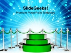 Green Podium For Winner Competition PowerPoint Templates Ppt Backgrounds For Slides 0113