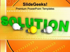 Green Solution With Light Bulbs PowerPoint Templates And PowerPoint Themes 1012