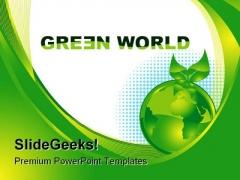 Green World Enviroment PowerPoint Template 0910