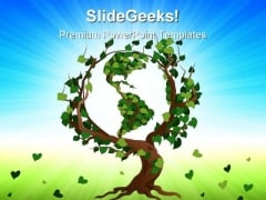 Green World Tree Earth PowerPoint Templates And PowerPoint Backgrounds 0511