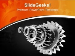 Grey Metal Industrial Gears PowerPoint Templates Ppt Backgrounds For Slides 0713