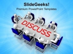 Group Discussion Business Solution PowerPoint Templates Ppt Backgrounds For Slides 0513