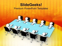 Group Discussion On A Topic PowerPoint Templates Ppt Backgrounds For Slides 0613