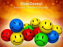 Group Of Emotion Icons Smiley PowerPoint Templates And PowerPoint Themes 0912