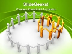 Group Of People Communication PowerPoint Themes And PowerPoint Slides 0911